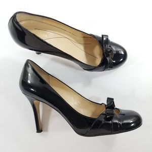 Kate spade size 8 black leather heels
